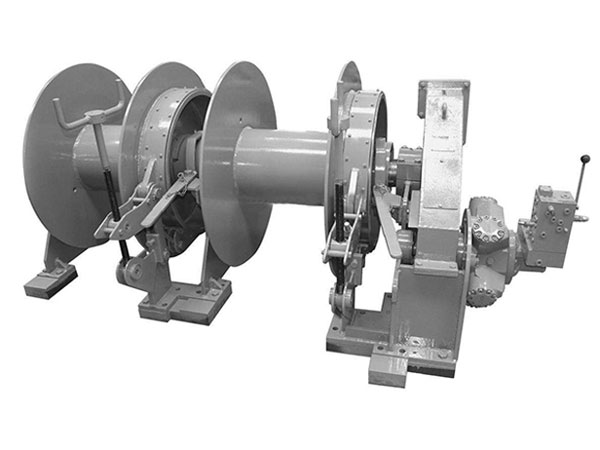 Double drum mooring winch with high quality.